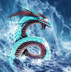 Sea Metal Dragon +background+