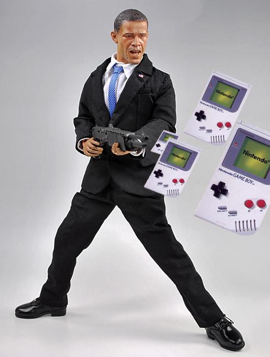 Obama Gameboy Gun