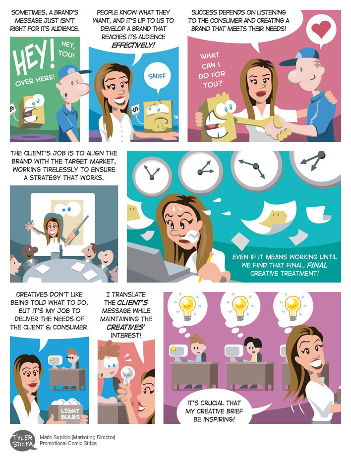 'Marketing' Vector Comics by tylersticka