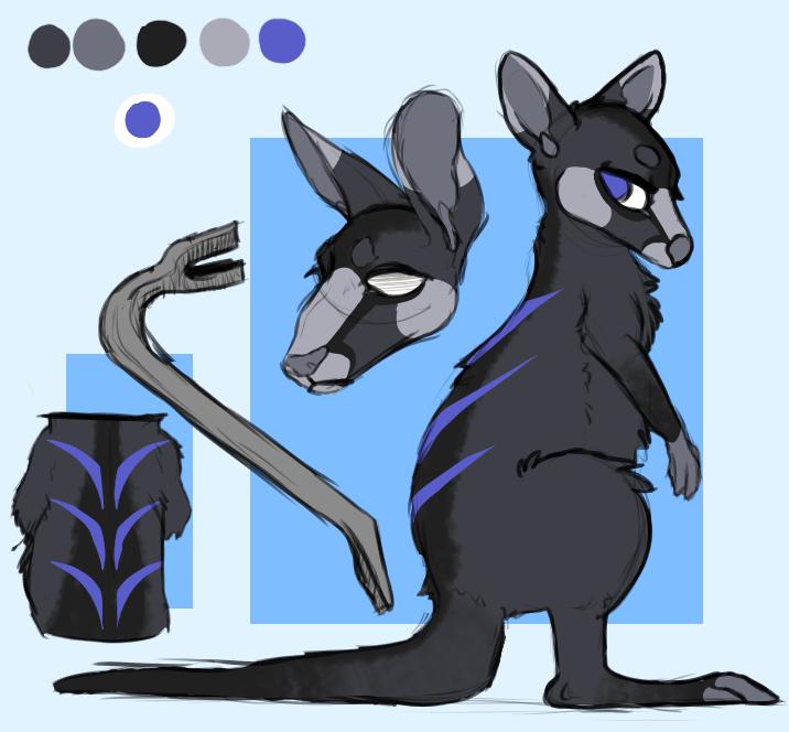 kangaroo adopt - closed! by 21ky