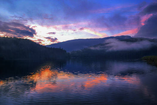 Sunset over Sasamat Lake
