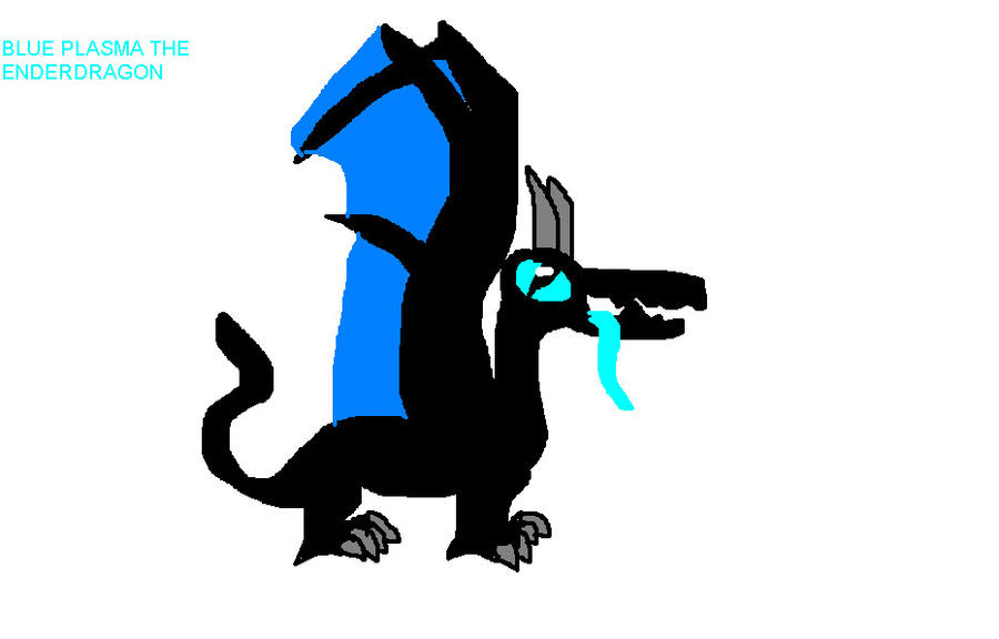 Blue Plasma The Enderdragon by Me-MowTheCat