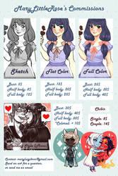 New Commission Sheet - CLOSED by MaryLittleRose