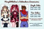 Dakimakura Commissions Sheet