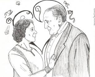 Downton Abbey, Carson Hughes, #9 Inktober by Natasha-Pavlitsevits