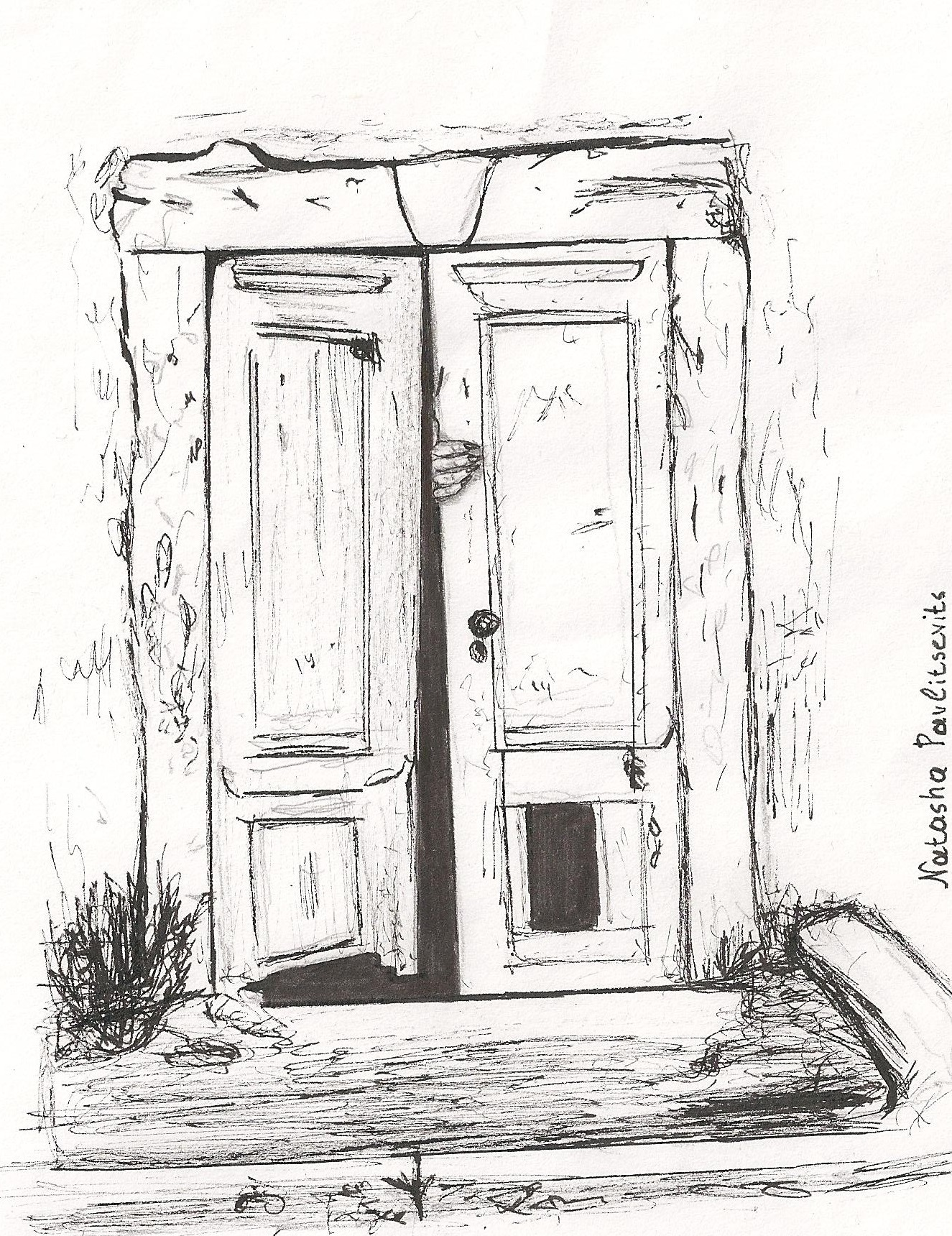Line Drawing Door : Creepy creaky door inktober by natasha pavlitsevits