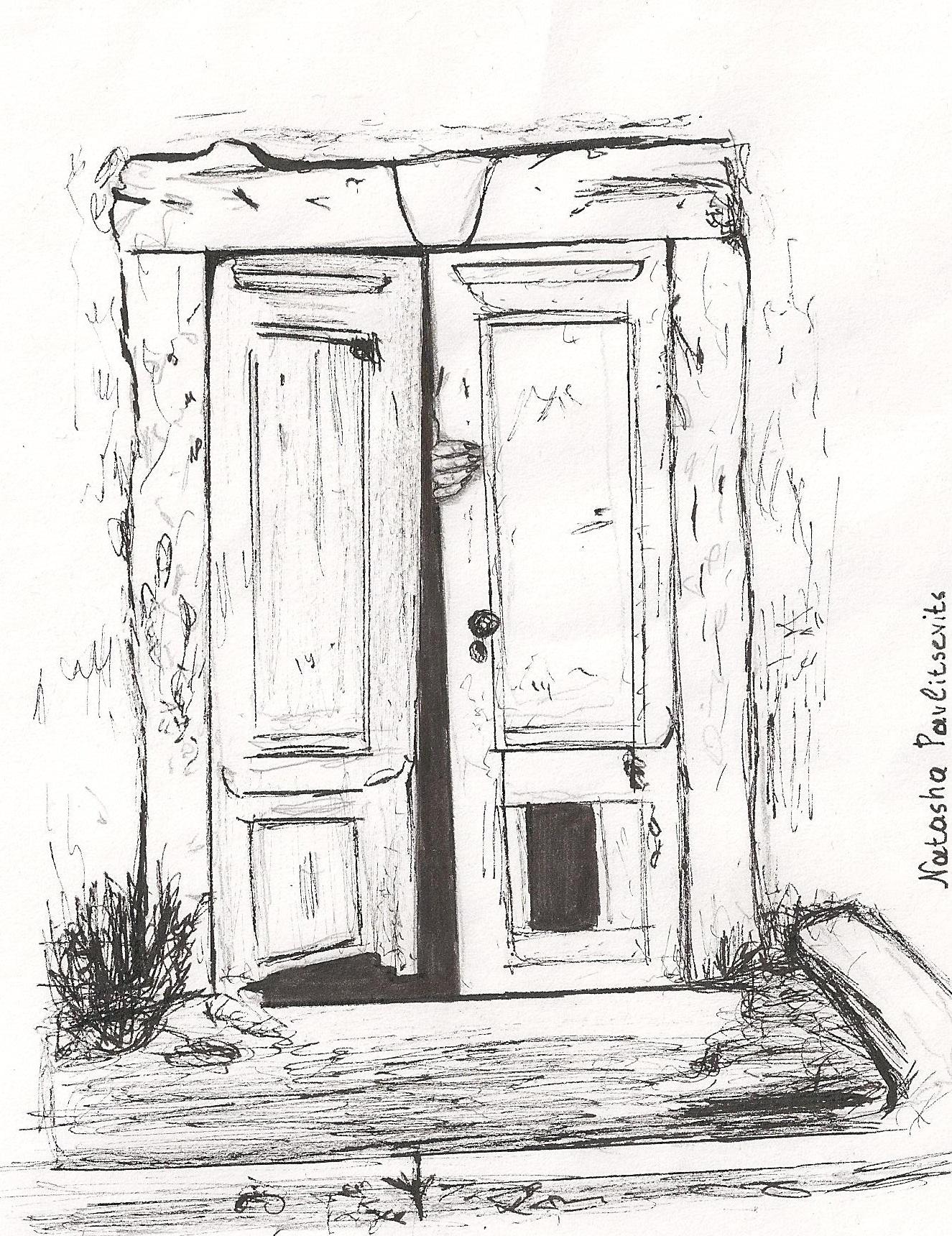 Line Drawing Door : Creepy creaky door inktober by natasha pavlitsevits