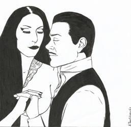 The Addams Couple, Inktober 3