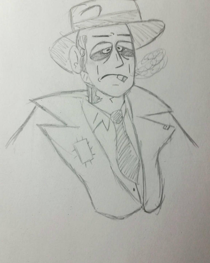 nick valentine sketch  by elitedragonman