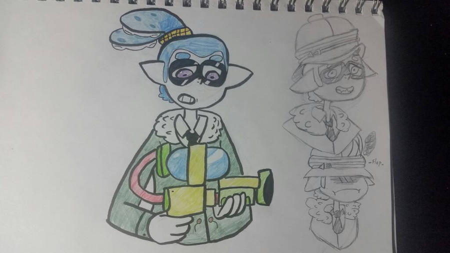 splatoon character sketch  by elitedragonman