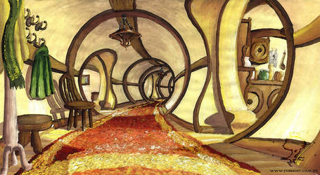 Shire - Bag End by Opareq