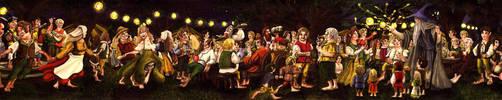 Bilbo's birthday party by Opareq