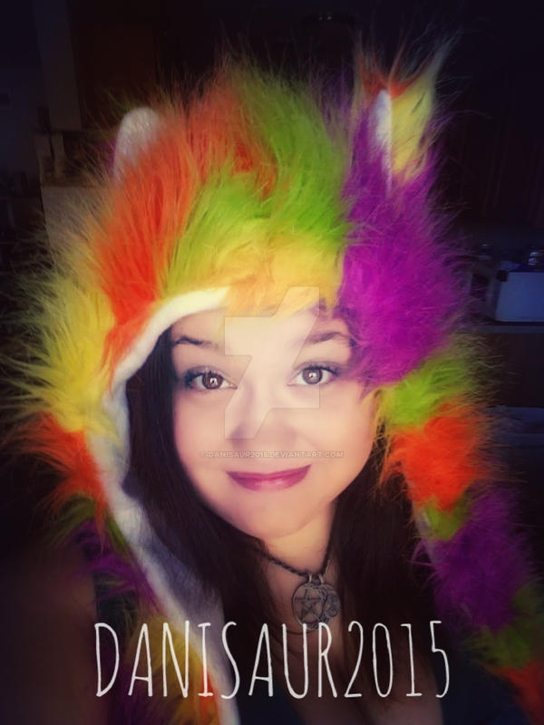 Rainbow Wolf :)  by danisaur2015