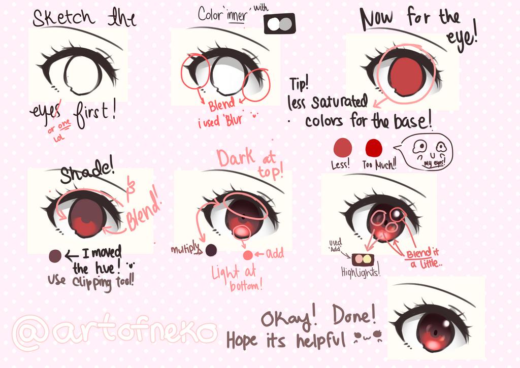 Eye coloring tutorial by AyamiNekota on DeviantArt