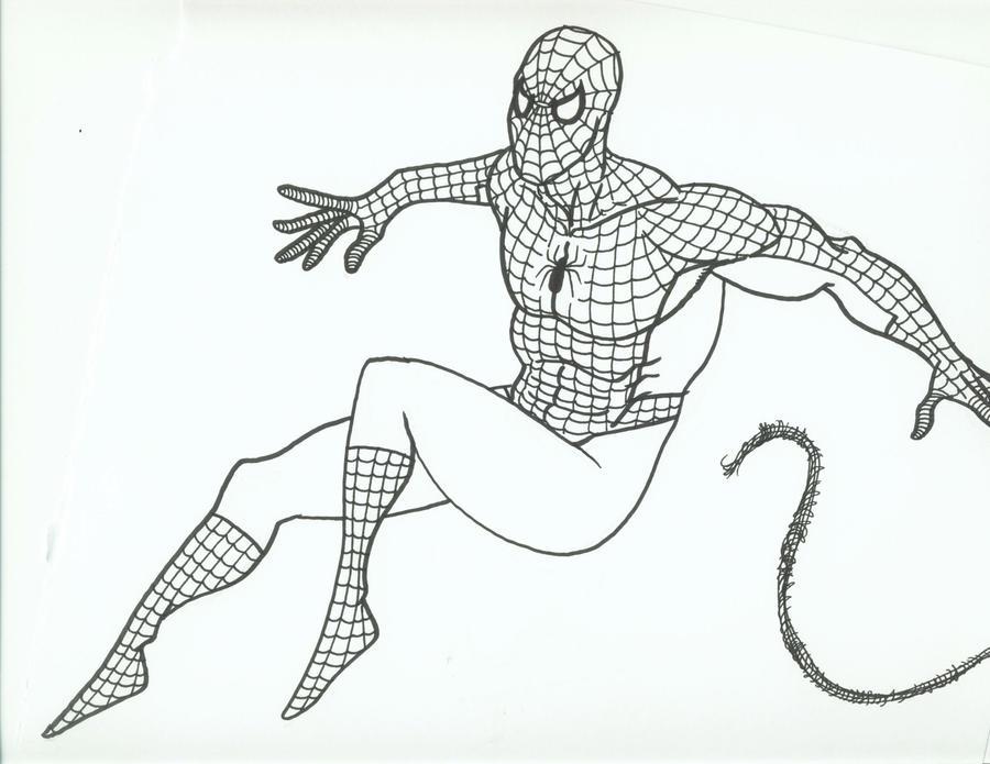 Spider-Man Brush Pen Sketch by Teroso on DeviantArt