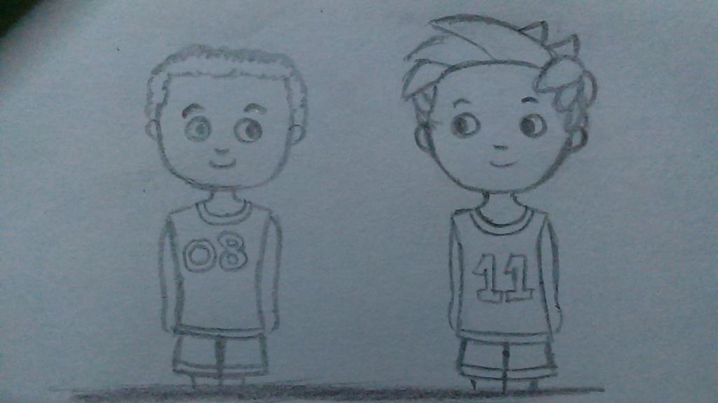 Alex Porter and Julius Goodway inbasketball jersey by limshiyun1636