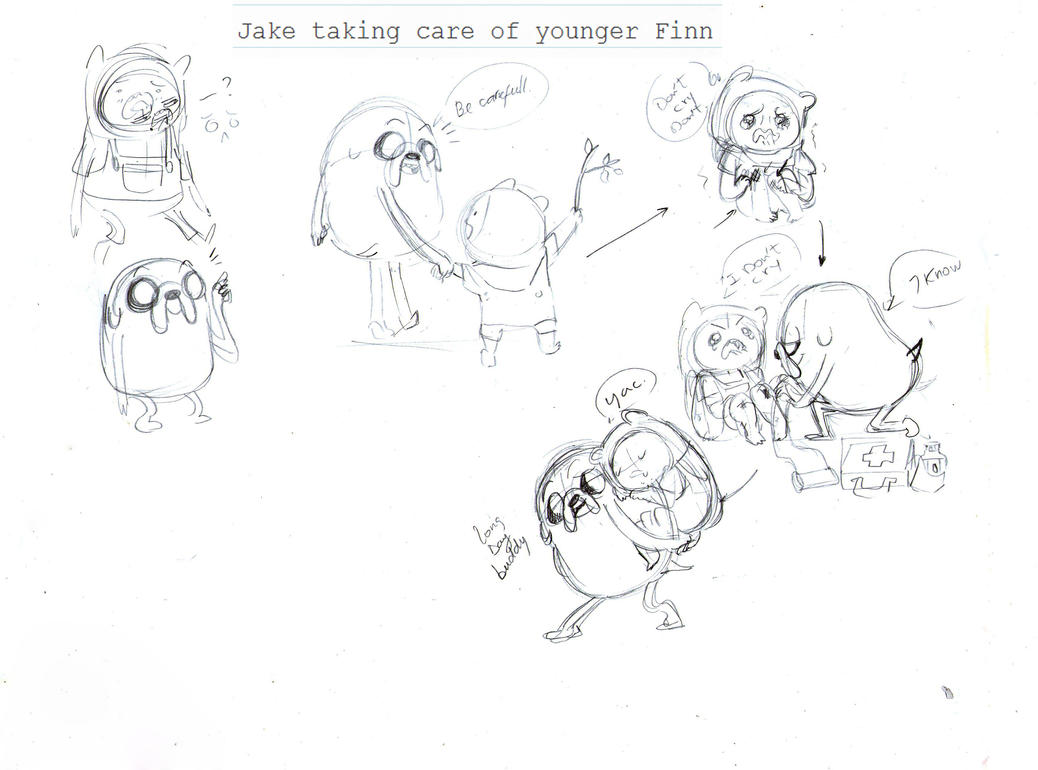 Adventure time_big brother work_sketch by nekoni-klonoa2