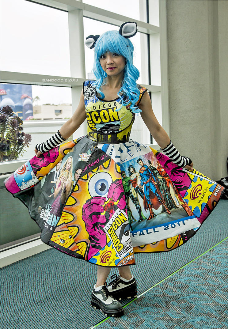 Comic Con Bag Dress by bandoodie