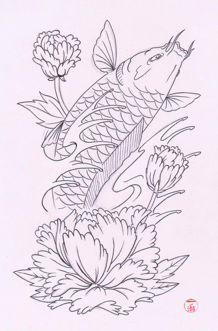 Koi tattoo design by laranj4 on deviantart for Koi fish design