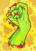 Zombie Hand by Laranj4