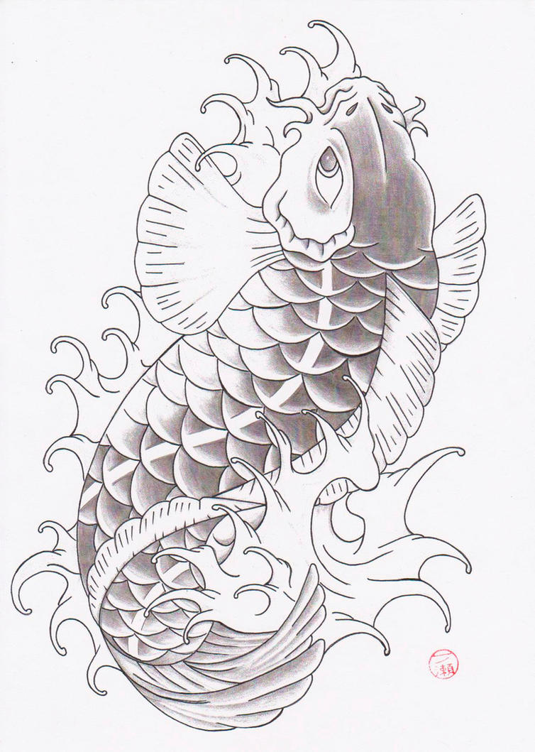 koi design tattoo