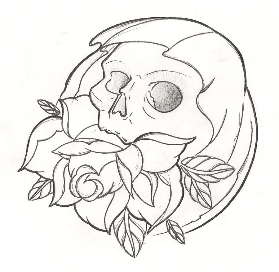 Image Result For Flaming Skull Coloring