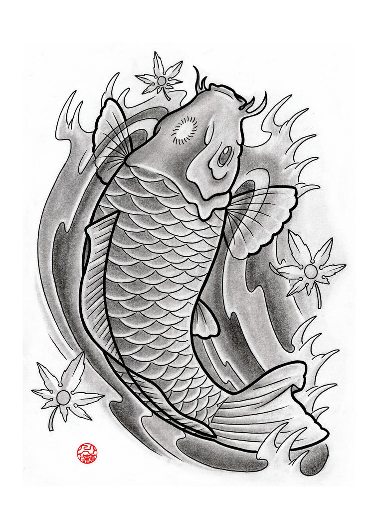 Japanese koi by laranj4 on deviantart for Koi japanese art