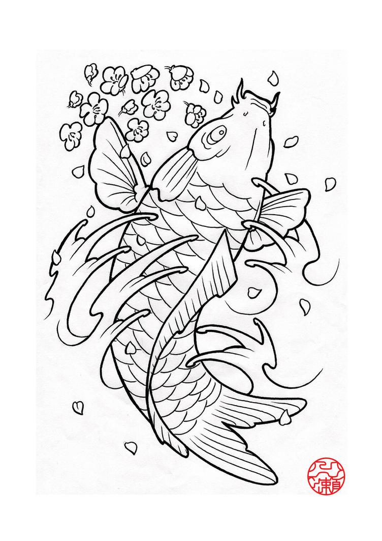 Japanese koi 2 by laranj4 on deviantart for Japanese koi design