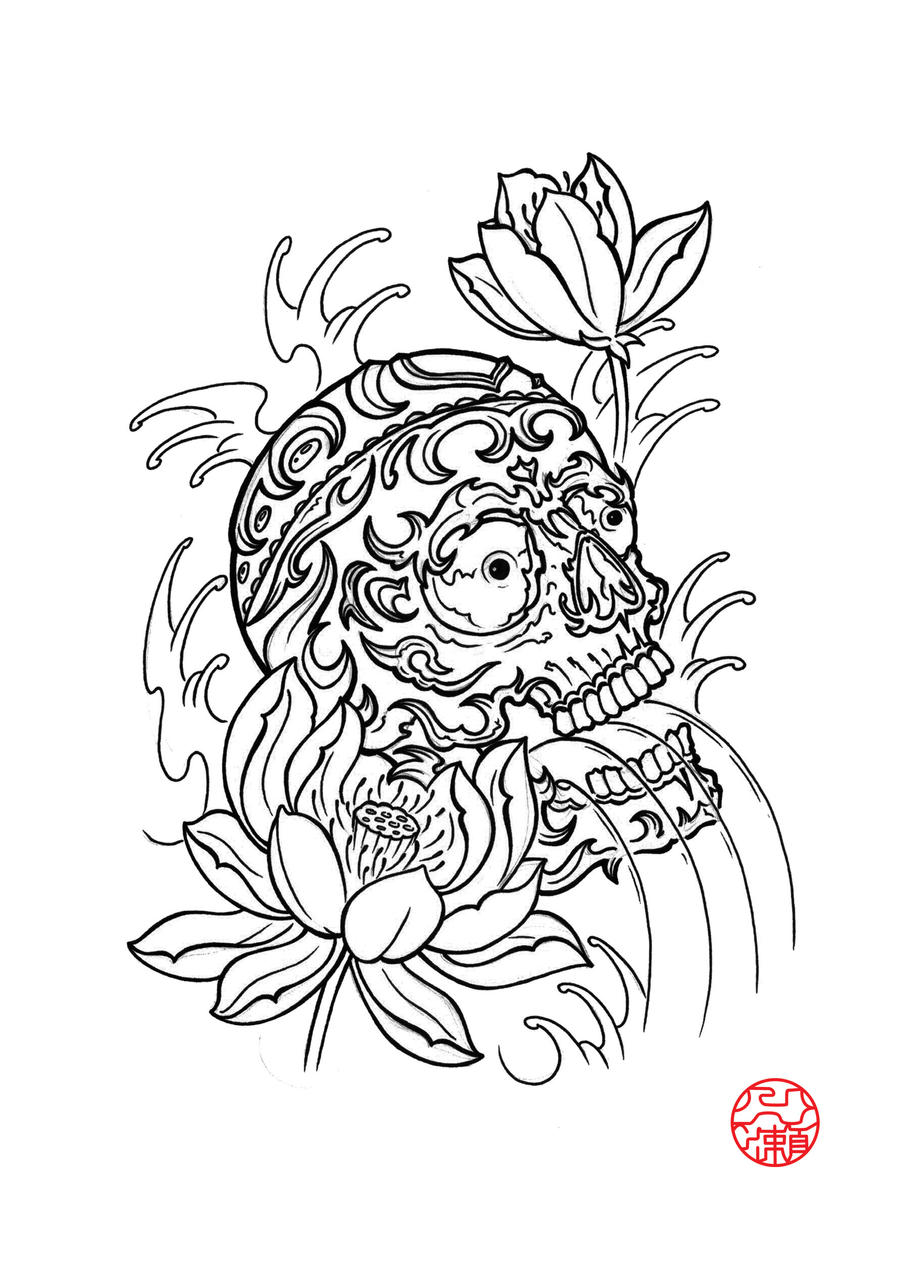 Japanese Tattoo Line Drawing : Japanese flowers line drawings