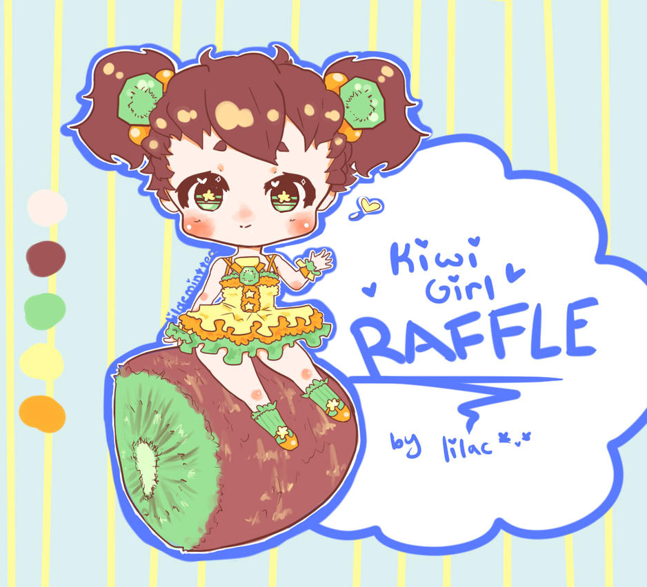 [RAFFLE] Kiwi Girl Adoptable [CLOSED] by lilac-mint-tea