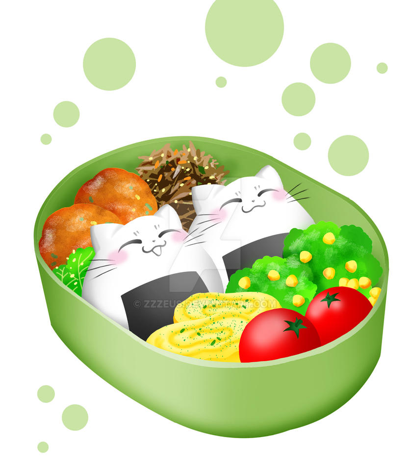 Riceball cat bento box by Zzzeus