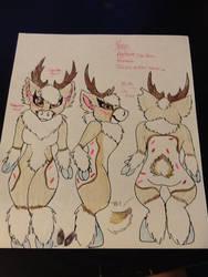 poppy the caribou fursona by Allicat1400