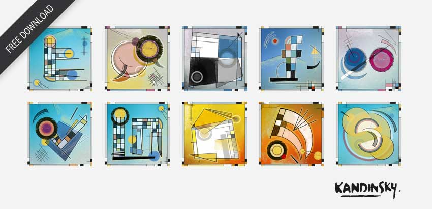 Kandinsky Social Media Iconset by AuroveDesign
