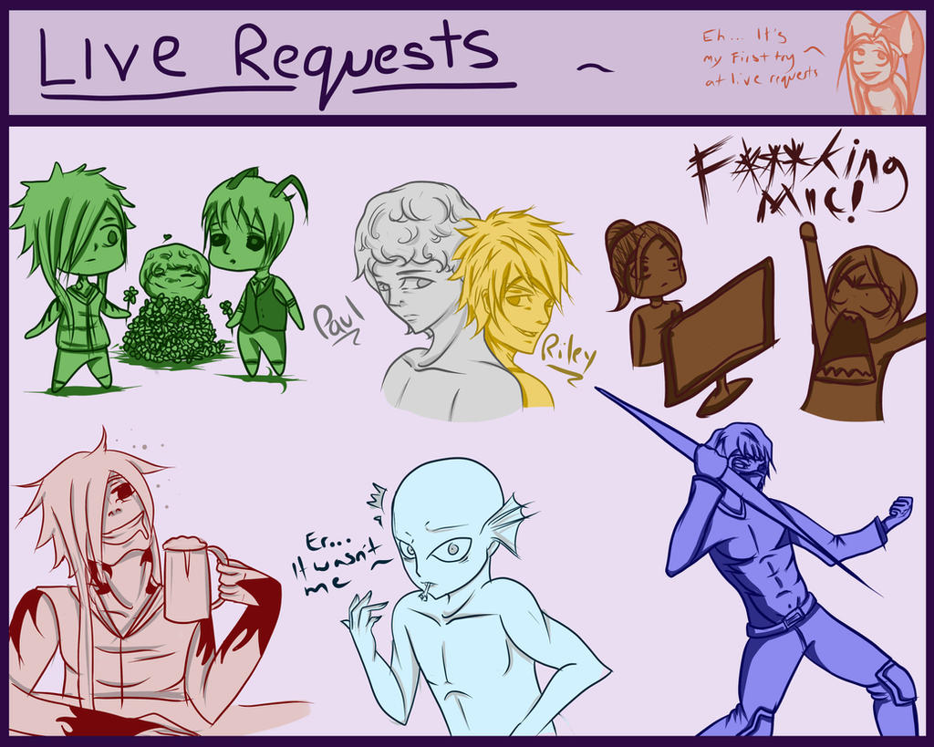 First Live Sketch-dump ~ by Jesuka