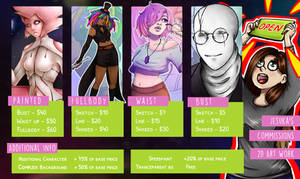 2D Commissions are [OPEN] (Points or $$$) by Jesuka