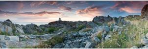 Kullen lighthouse pan by Dreammastr