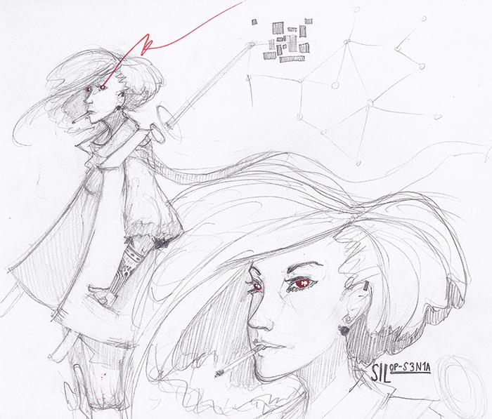 Character Design  - Sil by KidMars