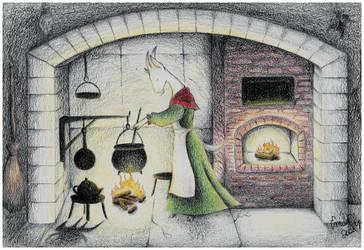 KitchenFireplace