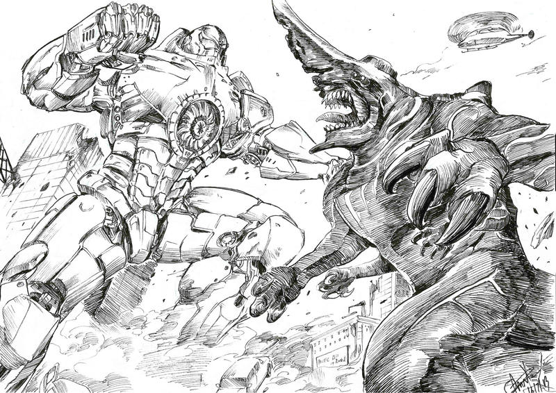 Pacific rim FAN ART by MassivePinkZombie on DeviantArt