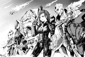 Mass Effect Team by MassivePinkZombie