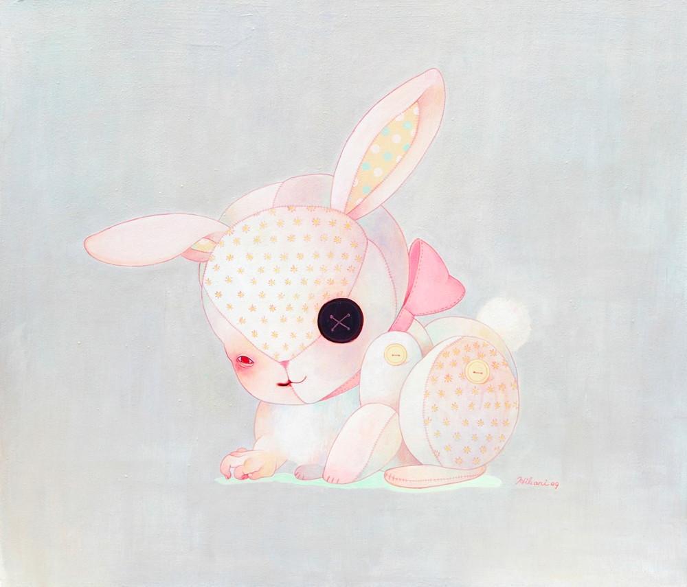 Rabbit's stuffed animal by hikarishimoda