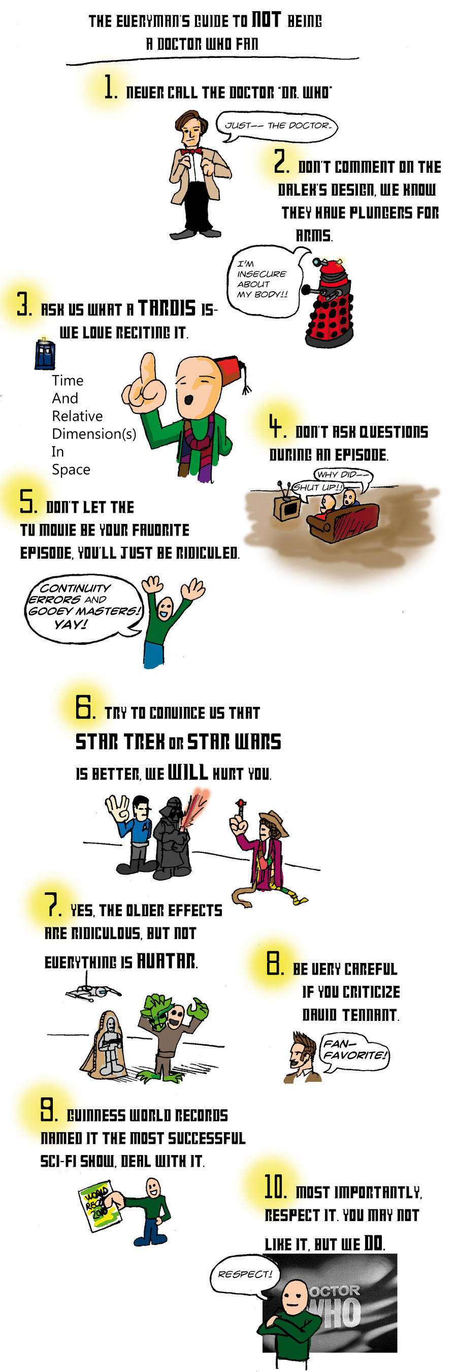 Help w NOT being a Dr.Who Fan by TEhopefulcomicartist