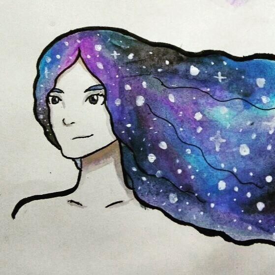 Galaxy Hair by RavenJuniper