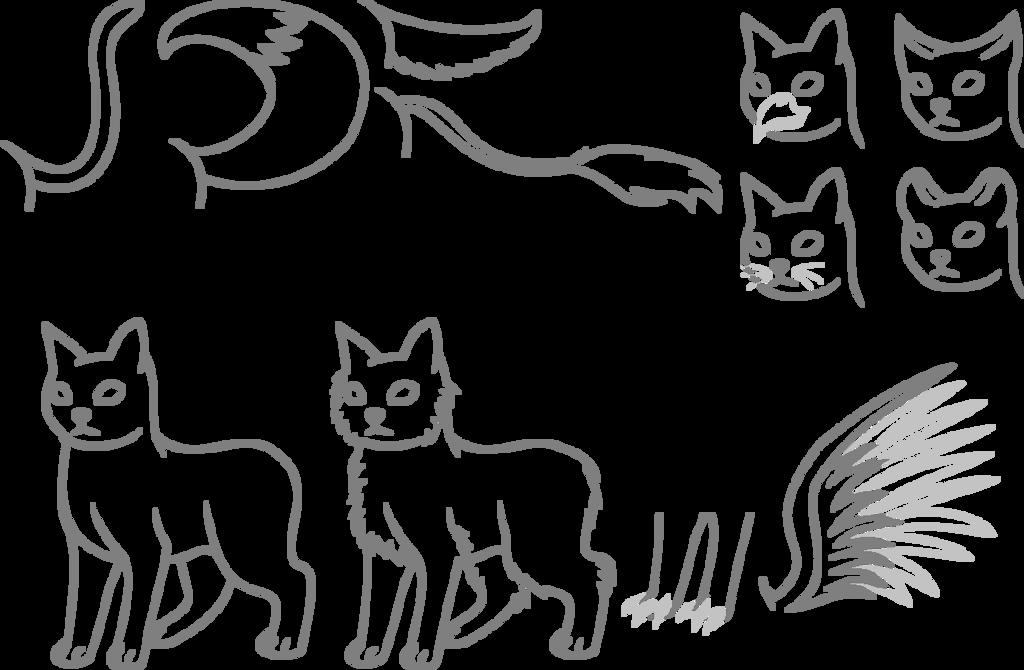 Free Cat lineart by LordBreakfast
