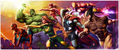 Heroes Attack by CValenzuela