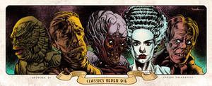 Classic Monsters - Print