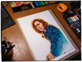 Agent Scully (Work in Progress) by CValenzuela