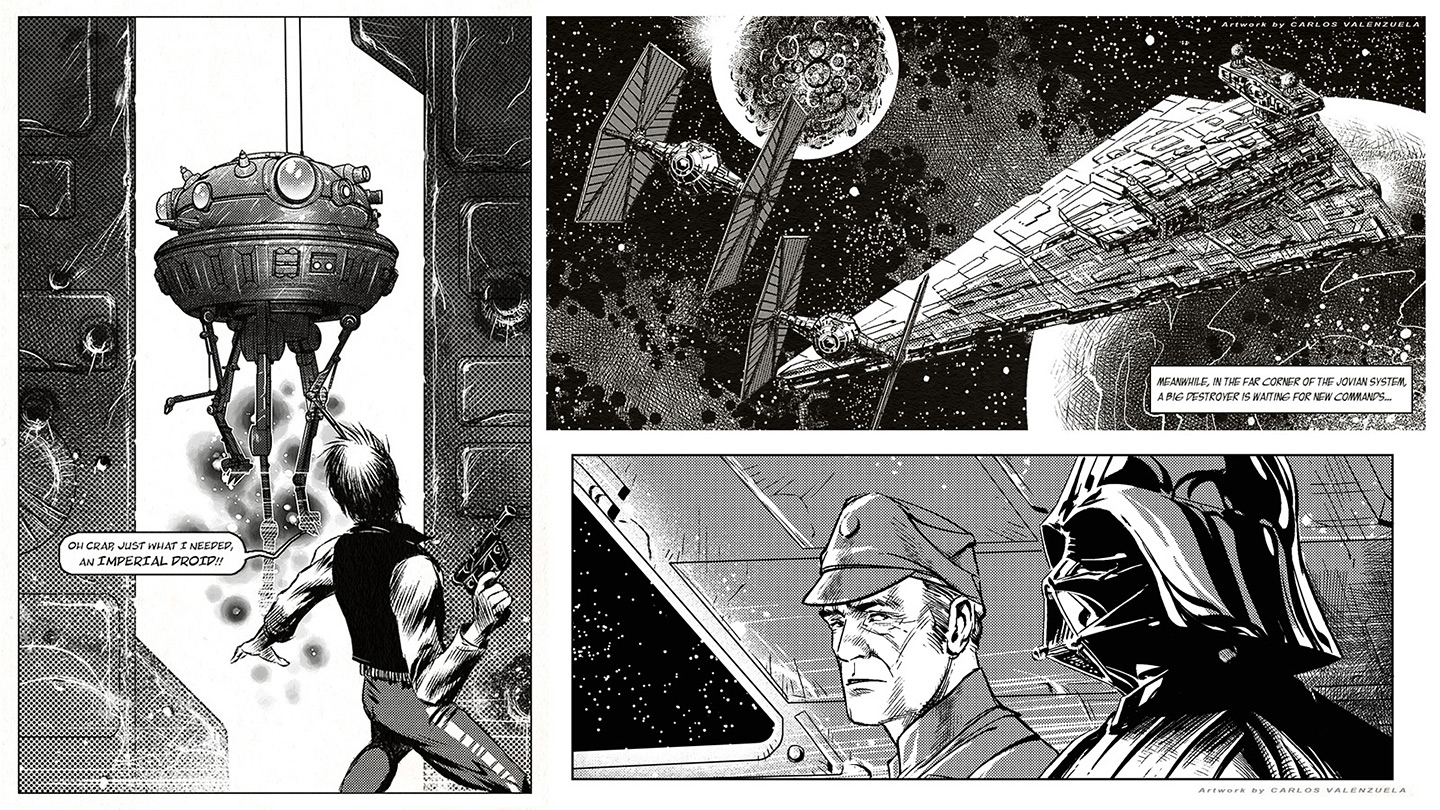 STAR WARS - panel samples by Valzonline