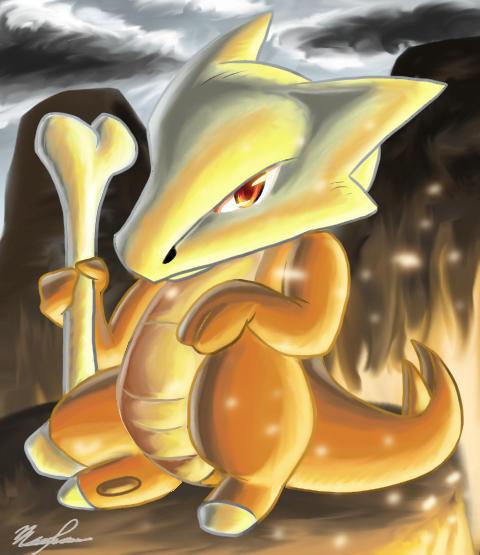Pokemon: Black and White - Page 3 Marowak_Request_by_Kyrara