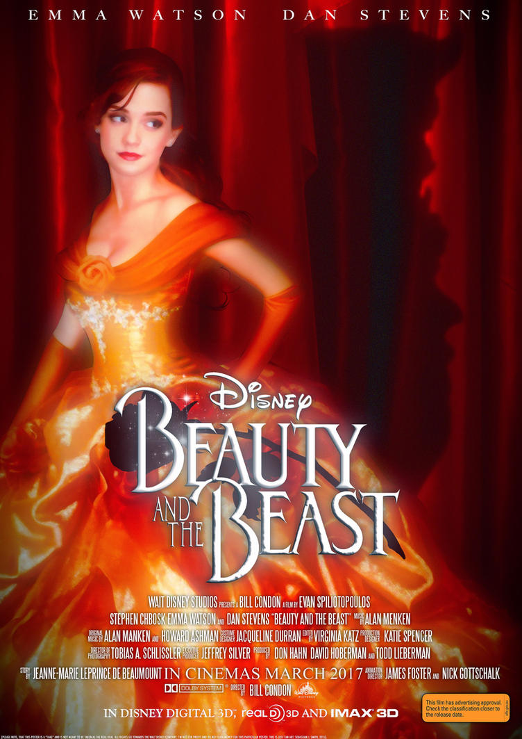 Disneys Beauty And The Beast 2017 Fake Poster By Naitsabes89